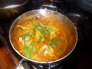 Rabbit Vindaloo Curry