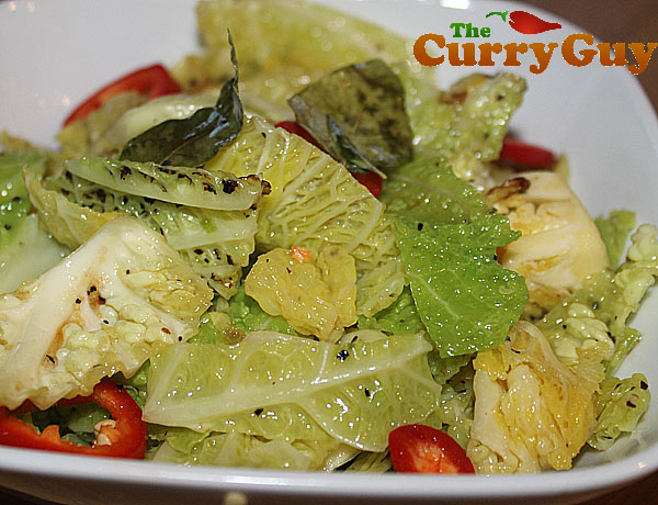 stir-fried cabbage done Keralan style