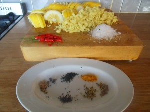 Ingredients for Indian Lemon Pickle