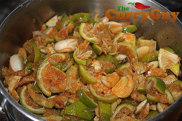 Making lime pickle