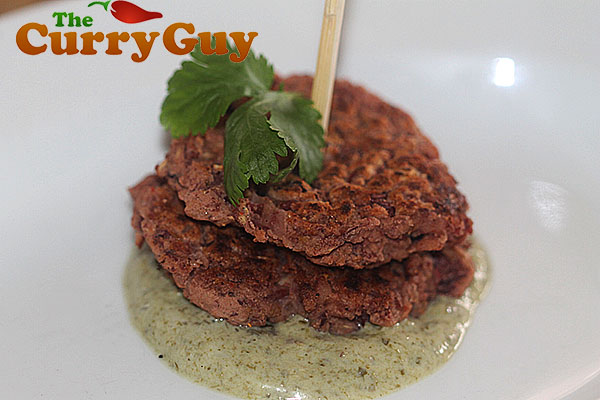 Goan spicy bean cakes