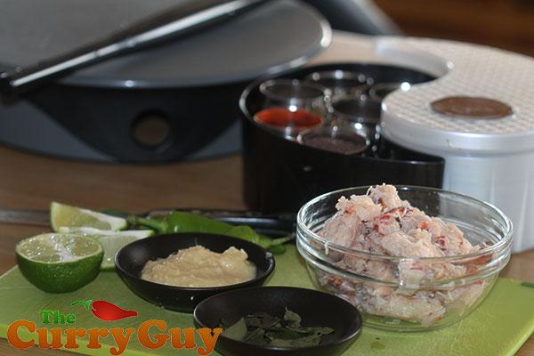 Making crab samosas