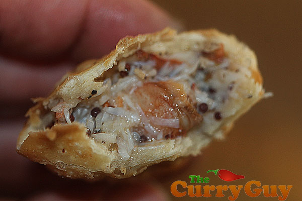 Crab samosas