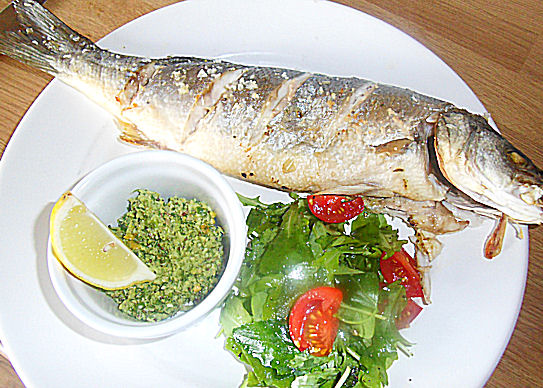 Low fat recipes - Sea Bass