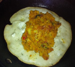 Dosa frying