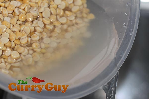 Making chana dhal