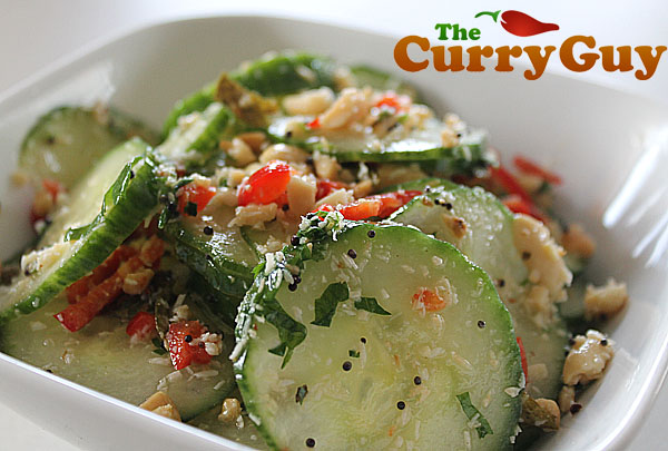 Indian cucumber salad by the curry guy cucumber salad forumfinder Images