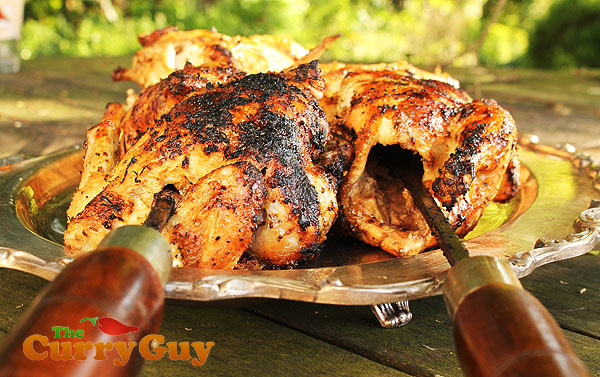 barbecued poussin