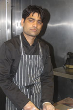Preparing food at Sachins