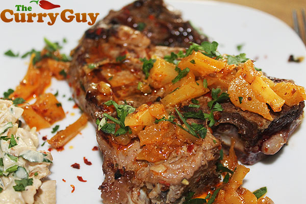rose veal with mango pickle