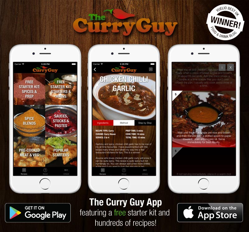 curry guy recipe app