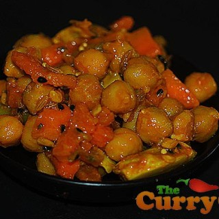 A Bangladeshi Pickle With Chickpeas, Garlic And Carrots
