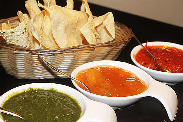 Papadoms at Namaaste Kitchen