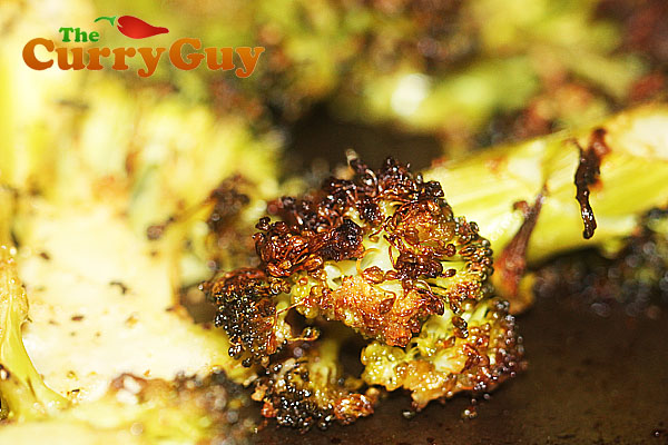 Oven roasted garam masala broccoli