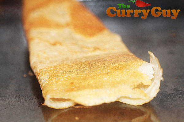 Finished dosa by The Curry Guy