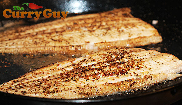 Dover sole frying