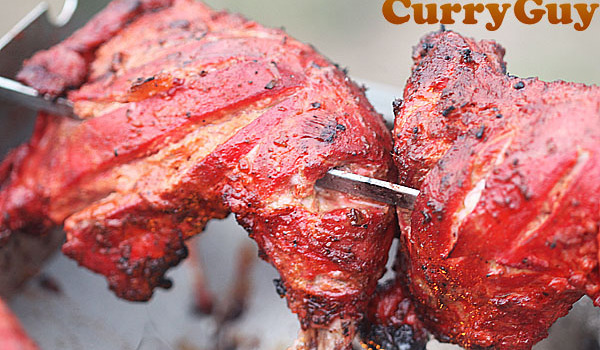 Barbecued Tandoori Chicken Legs