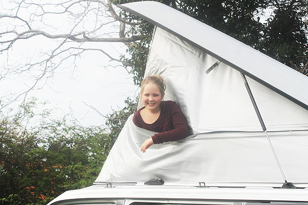 Jennifer in campervan