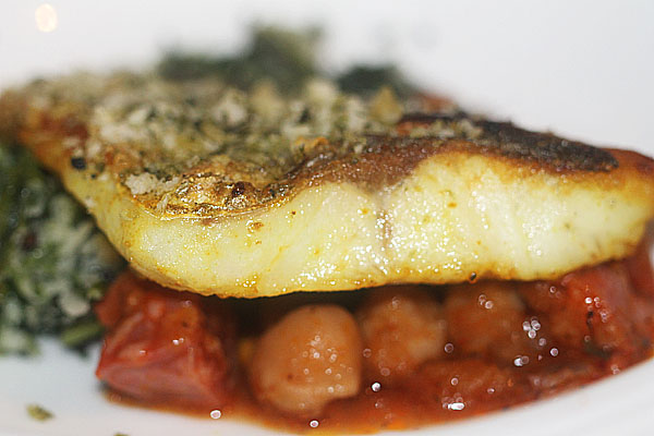 Pan seared sea bass at The Cinnamon Club