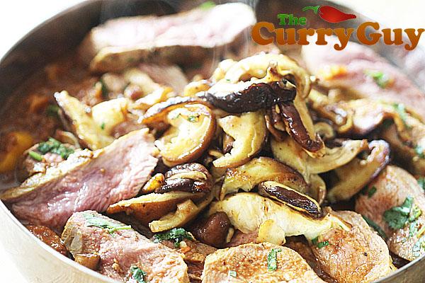 Duck and Mushroom Balti