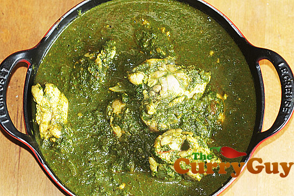 Chicken saag balti