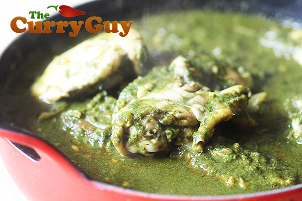 Chicken saag balit