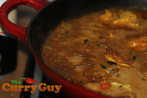 Chicken and coconut curry