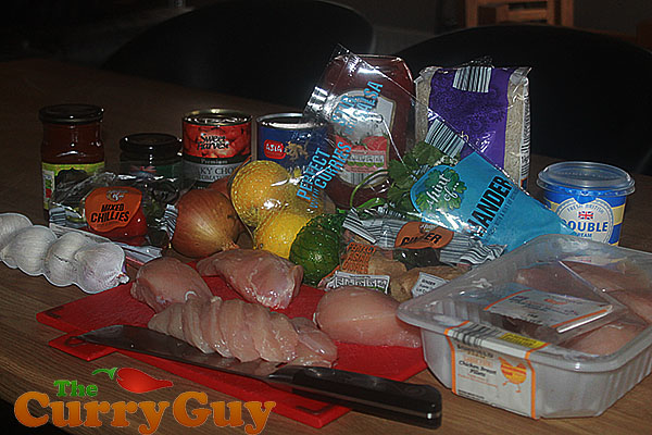 Ingredients for Chicken Chasni