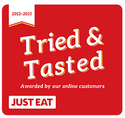 Tried and Tested JUST EAT logo