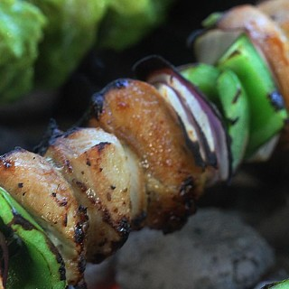 Honey, Soy Sauce and Garlic Chicken Kebabs