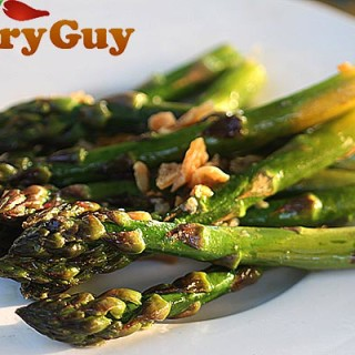 Grilled Asparagus with garlic confit