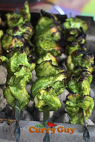 green chicken kebabs