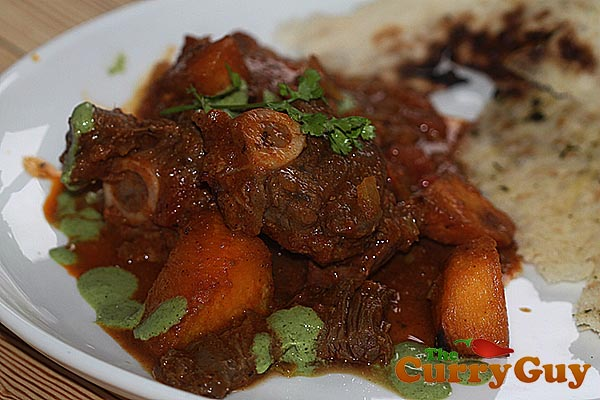 Lamb curry with swede