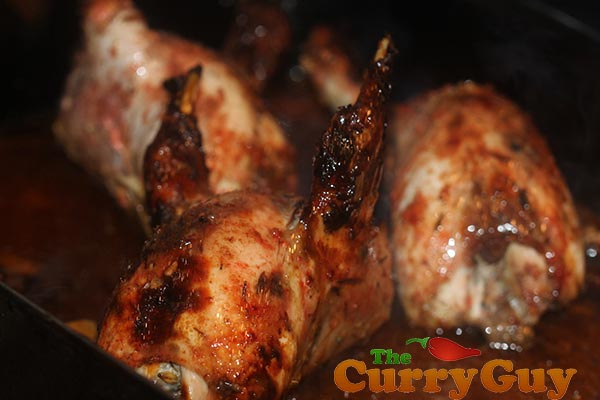 Tandoori partridges.