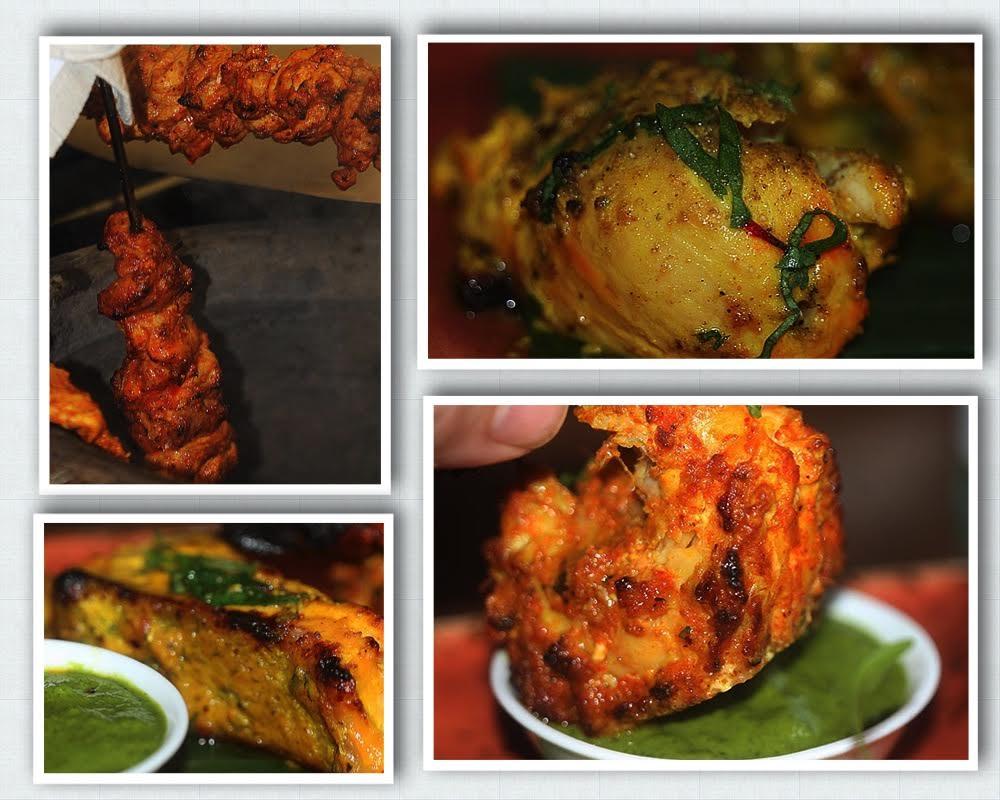 Scarfes Bar tandoori dishes