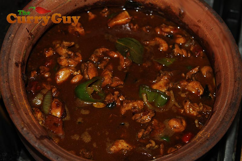 Authentic Sri Lankan Black Pepper Chicken Curry.