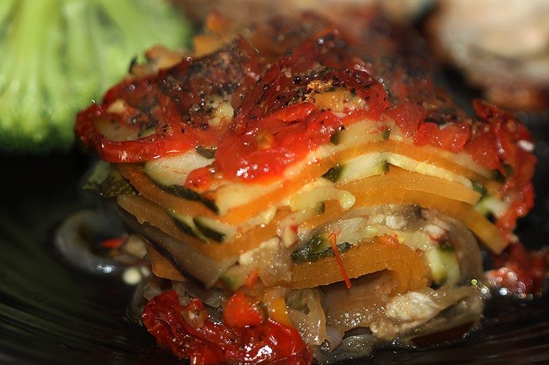 Layered mediterranean vegetables