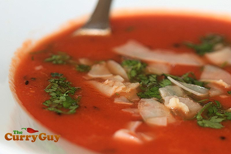Indian inspired tomato soup