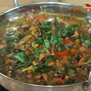 Black eyed pea balti curry