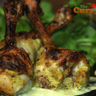 Indian restaurant style tandoori chicken lollipops