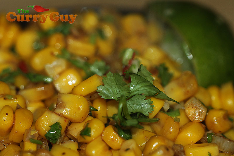 Indian restaurant spicy sweetcorn