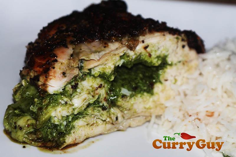 Chicken with coriander pesto