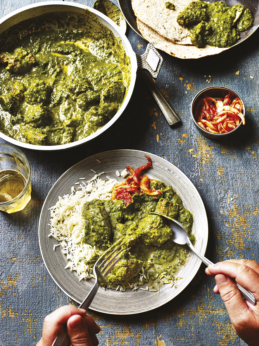 Lamb saag curry from The Curry Guy Cookbook