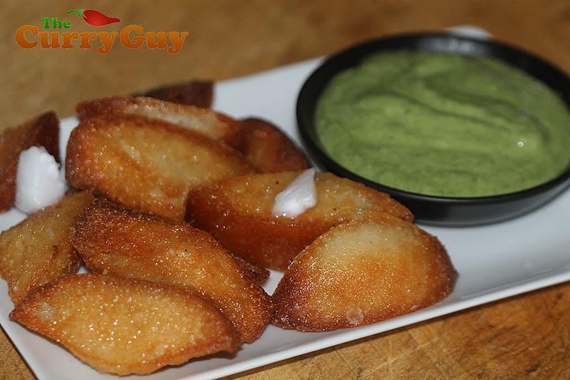 British Indian restaurant fried idlis
