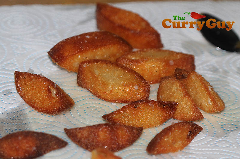 British Indian Restaurant style fried idlis