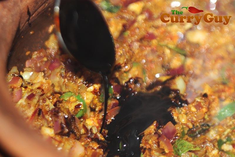 Making Sri Lankan Pork Curry