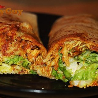 Chicken and coconut dosa