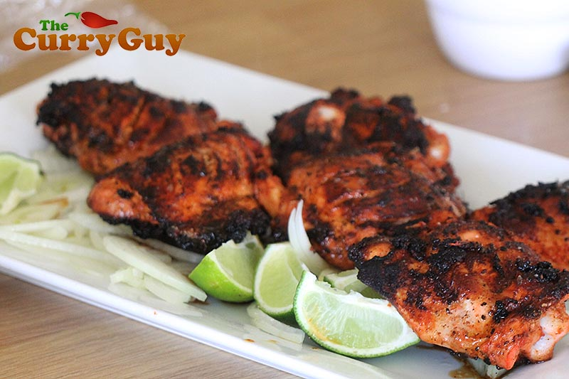 Making tandoori chicken