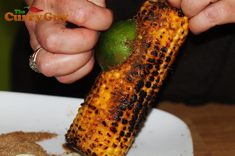 Spice and lime grilled corn