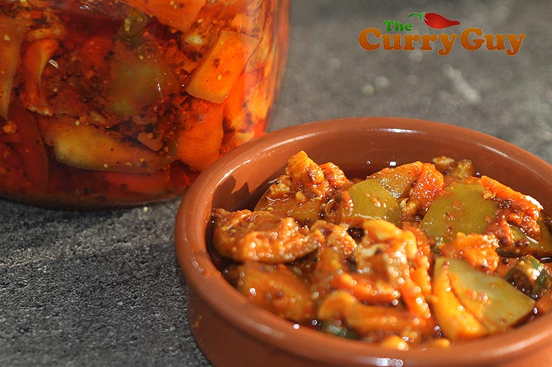 Spicy Mixed Vegetable Pickle Indian Vegetarian Recipes